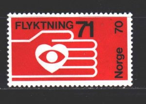 Norway. 1971. 624. Refugee assistance. MNH.
