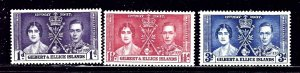 Gilbert and Ellice 37-39 MLH 1937 KGVI Coronation    (ap2267)