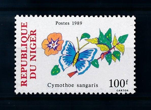 [70582] Niger 1989 Flora Flowers Butterfly From Set MNH