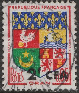 ILE DE LA RÉUNION - 1961 - Yv.343/Mi.412 2fr CFA / 0fr05 Oran Obl. TB