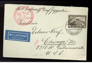 1930 Germany Graf Zeppelin South America Cover  w # C37