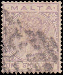 Malta #13, Incomplete Set, High Value, 1885, Used