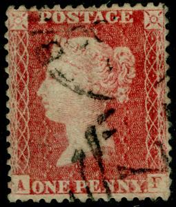 SG40, 1d rose-red PLATE 37, LC14, FINE USED. Cat £35. AF