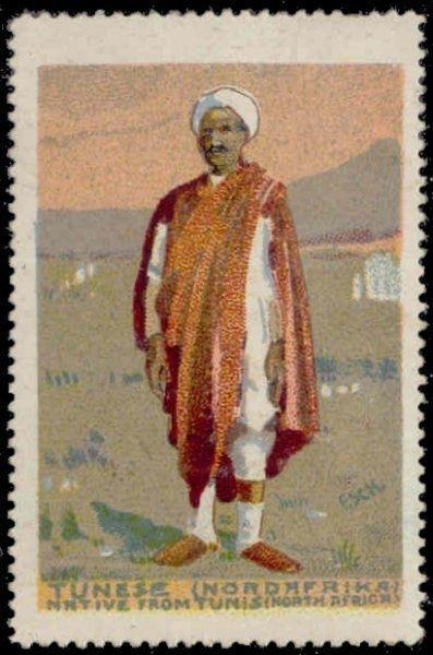 Tunisia - Native Man from Tunis (North Africa) Poster Stamp