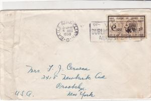 Ireland Eire 1938 Visit Dublin Horse Show Slogan Cancel Stamps Cover ref 22088