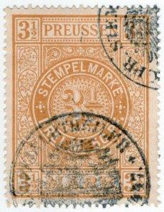 (I.B) Germany Revenue : Stempelmarke 3½M (Prussia)