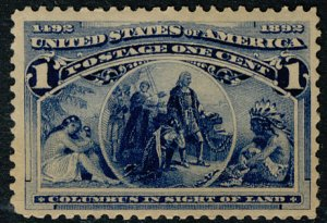 US #230 SCV $85.00 XF mint never hinged, nicely centered, Fresh Color!  A Sup...