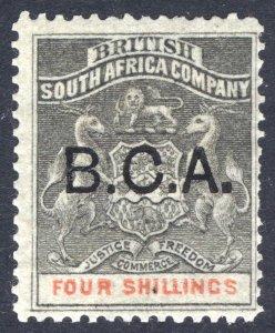 Nyasaland BCA 1891 4s Grey Black & Verm. Arms SG 11 Sc 11 LMM/MLH Cat £85($106)