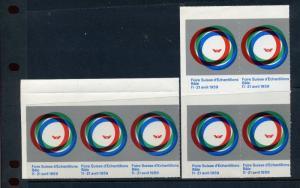 7 VINTAGE 1959 FIORE SUISSE d'ECHANTILLONS BALE POSTER STAMPS FRANCE SWISS (L668