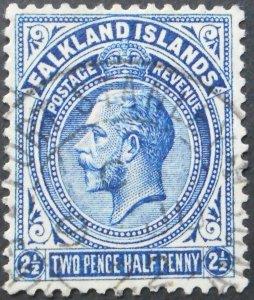 Falkland Islands 1921 GV 2½d SG 76 used