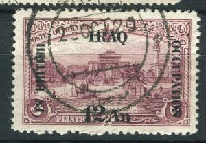 IRAQ; 1918 BRITISH OCCUPATION issue fine used 12a. value + good POSTMARK