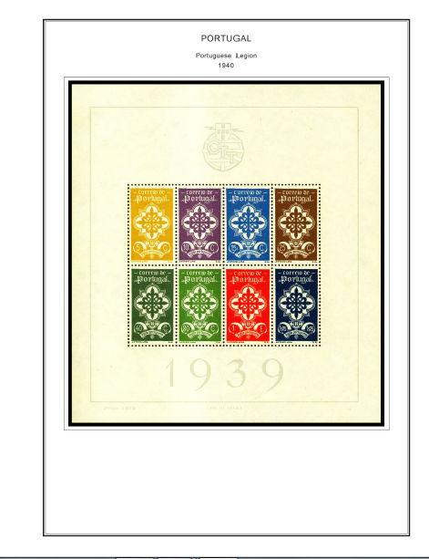 color printed portugal class 1853 1941 stamp album pages 58