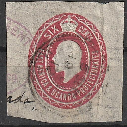 East Africa and Uganda Envelope stamp Edward VII