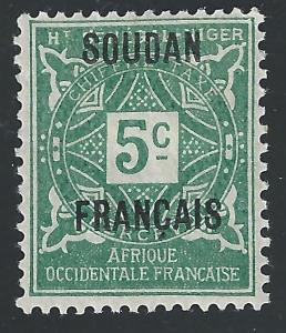French Sudan #J1 5c Postage Due