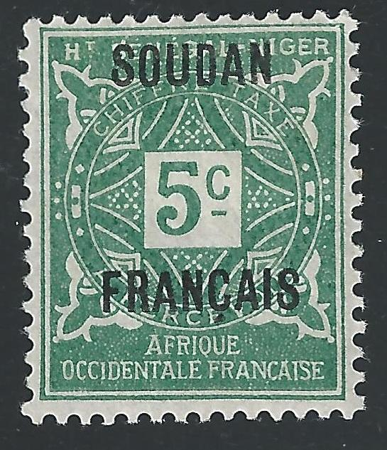 French Sudan #J1 5c Postage Due