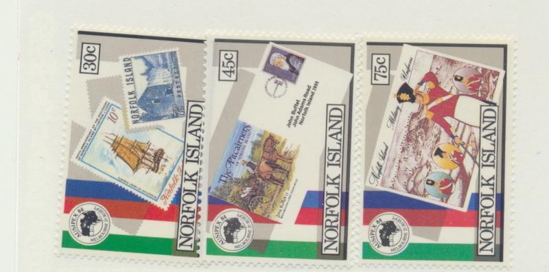 Norfolk Island Scott #344 To 346, Mint Never Hinged MNH, AUSIPEX 1984 Issue F...