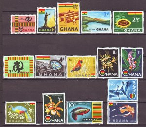 J22404 Jlstamps 1959 ghana set mh/mnh #48-60 designs