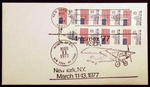 1623a Booklet Pane of 8 1977 Rare First Day Cover