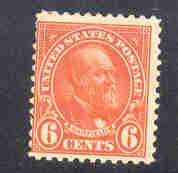 USA  Sc558 1922 6c red orange Garfield stamp mint