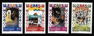Faroe Is. Traditional Song 4v SG#260-263 SC#270-273