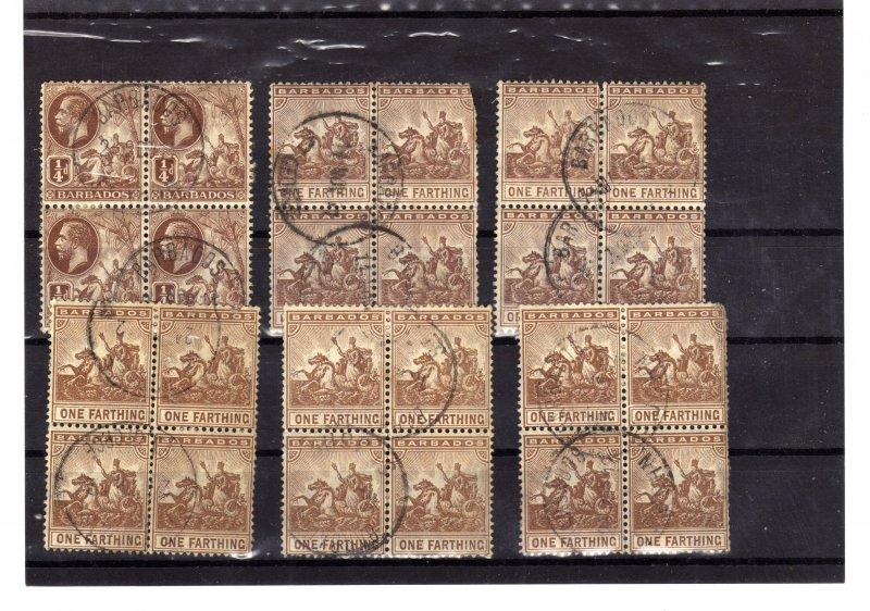 barbados postage marks x 30