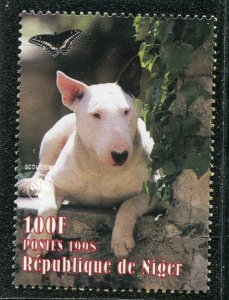 Niger 1998 DOG BUTTERFLIES Scout Emblem 1 value Perforated Mint (NH)