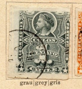 Chile 1877-78 Early Issue Fine Used 1c. NW-09250