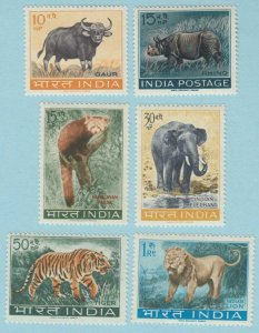 INDIA 361A - 366  MINT NEVER HINGED OG ** NO FAULTS VERY FINE ! - (2)
