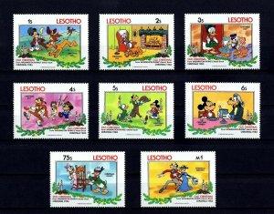 LESOTHO - 1983 - DISNEY - MICKEY - GOOFY - PLUTO + OLD CHRISTMAS - 8 X MINT SET!