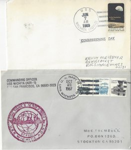 USS Wichita  AOR 1  1969  Commissioning, 1987   US Naval Cover