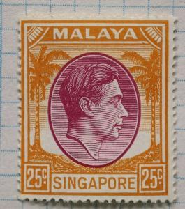 Malaya Singapore sc#14a 25c Mint MNH OG