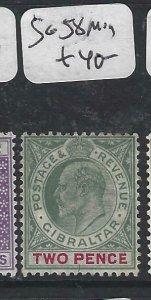 GIBRALTAR  (PP0207B) KE  2D  SG 58  MOG