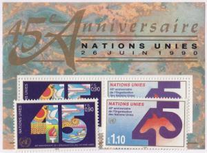 UN GENEVA MNH Scott # 188-190 45th Anniversary (3 Stamps) -3 (1)