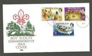 1969 Barbuda Sea Boy Scouts camp fire FDC