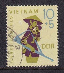 German Democratic Republic  DDR  #B147 used 1968  North Vietnam armed mother