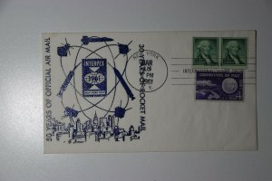 50 Years of Official Airmail INTERPEX NYC NY 1961 Philatelic Expo Cachet Cover