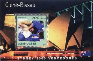 Guinea-Bissau 2001 OLYMPIC JUDO s/s Perforated Mint (NH)