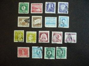 Stamps - Cuba - Scott#340,343-354,C25-C26,C28-C29 Used Partial Set of 17 Stamps