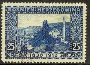 BOSNIA AND HERZEGOVINA 1910 25h Mosque Franz Joseph Birthday Sc 53 VFU