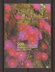 2002 Zaire - Sc1630 - MNH VF - Souvenir Sheet - Flowers