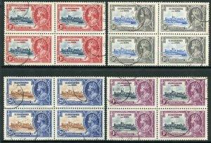 St Kitts-Nevis 1935 Silver Jubilee SG61/4 Fine Used BLOCKS OF 4