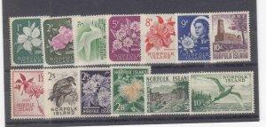 NORFOLK ISLAND (MM236) # 29-41 VF-MLH  VARp,sh  VARIOUS DESIGNS- SET #2 CV $55