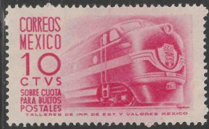 MEXICO Q7, 10¢ 1950 Definitive 1ST Printing wmk 279 UNUSED, H OG. VF.