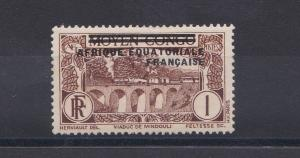 FRENCH COLONIES EQUATORIAL AFRICA  1936  1C CHOCOLATE  M H