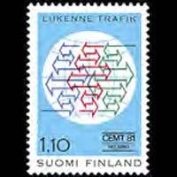 FINLAND 1981 - Scott# 657 Conf. Set of 1 NH