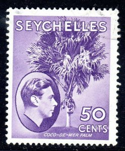 SEYCHELLES-- 1938- sg144  -  50 cents  -  - used -