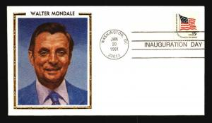 Reagan 1981 Inauguration Cover / Colorano Walter Mondale Cachet - Z14490