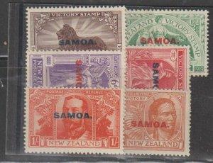 Samoa  SC   136-41 Mint Never Hinged