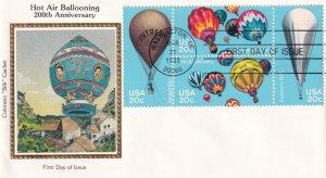1983, Bicentennial Hot Air Ballooning, Colorano Silk, FDC (E12206)