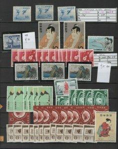 Japan 1960ies stamp dealer stock MNH ** topical sheet multiples cv$1000  日本郵便切手